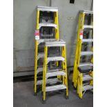 (2) Werner Fiberglass Step Ladders, (1) 6', (1) 4'