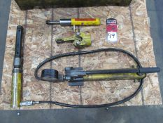 Enerpac P-39 Hydraulic Hand Pump w/ Assorted Attachments