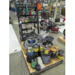 Lot of Assorted Wire w/ Cart