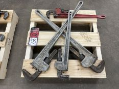 """Lot of (4) Pipe Wrenches, (2) 36"""" and (2) 24"""""""
