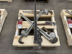 """Lot of (5) Pipe Wrenches, (2) 36"""", (2) 24"""" and (1) 14"""""""