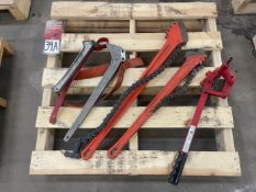 Lot of Strap Wrenches and Chain Wrench