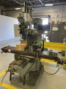 "Bridgeport Series II Special Vertical Mill, 11x58 Tbl, 9"" rotary Table with 6.5"" 3-Jaw, 4"" Machinist"