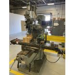 """Bridgeport Series II Special Vertical Mill, 11x58 Tbl, 9"""" rotary Table with 6.5"""" 3-Jaw, 4"""" Machinist"""