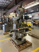 Bridgeport Series 1 Vertical Mill, 9x42 Tbl, 2 HP, Power Draw Bar, DRO, Power Table Feed, s/n