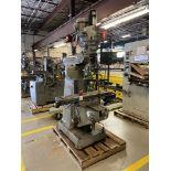 Bridgeport Series 1 Vertical Mill, 9x42 Tbl, 2 HP, Power Draw Bar, DRO, Power Table Feed, s/n