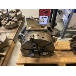 """12"""" 3-Jaw Rotary Table on Rt Angle Mount"""