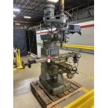 Wells Index 847 Vertical Mill, 9x46 Tbl, DRO, 2 HP, Power Y and X, 4200 RPM, Power Draw bar, s/n