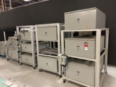 Lot of (8) Electrical Cabinets new not installed with Components