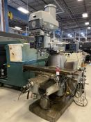 Bridgeport Series II Vertical Mill, 11x58 Tbl, 4 HP, Quill Feed, Power Knee, DRO, s/n DO26556