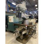 Bridgeport Series II Vertical Mill, 11x58 Tbl, 4 HP, Quill Feed, Power Knee, DRO, s/n DO26556