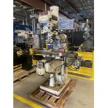 Jet JTM-4VS Vertical Mill, 9x49 Tbl, 3 HP , 4200 RPM, DRO, X and Y Power Feed, Worklight, s/n