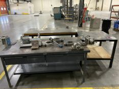 Lot of (3) Metal Shop / Welding Tables