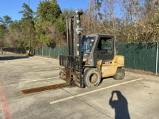 Cat GP45K 10,000 Lb Capacity Lift Truck, LP, Cab with Heat, Yard Tires, Fork Positioning, s/n