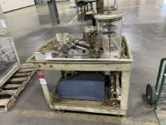 Lot of (2) Hydraulic Vacuum Pump Carts