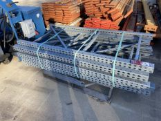 "Tear Drop Adjustable Pallet Racking (1) Skid of 144"" Arms and (1) Skid of Uprights"