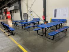 (3) Lunch Tables and (4) Benches