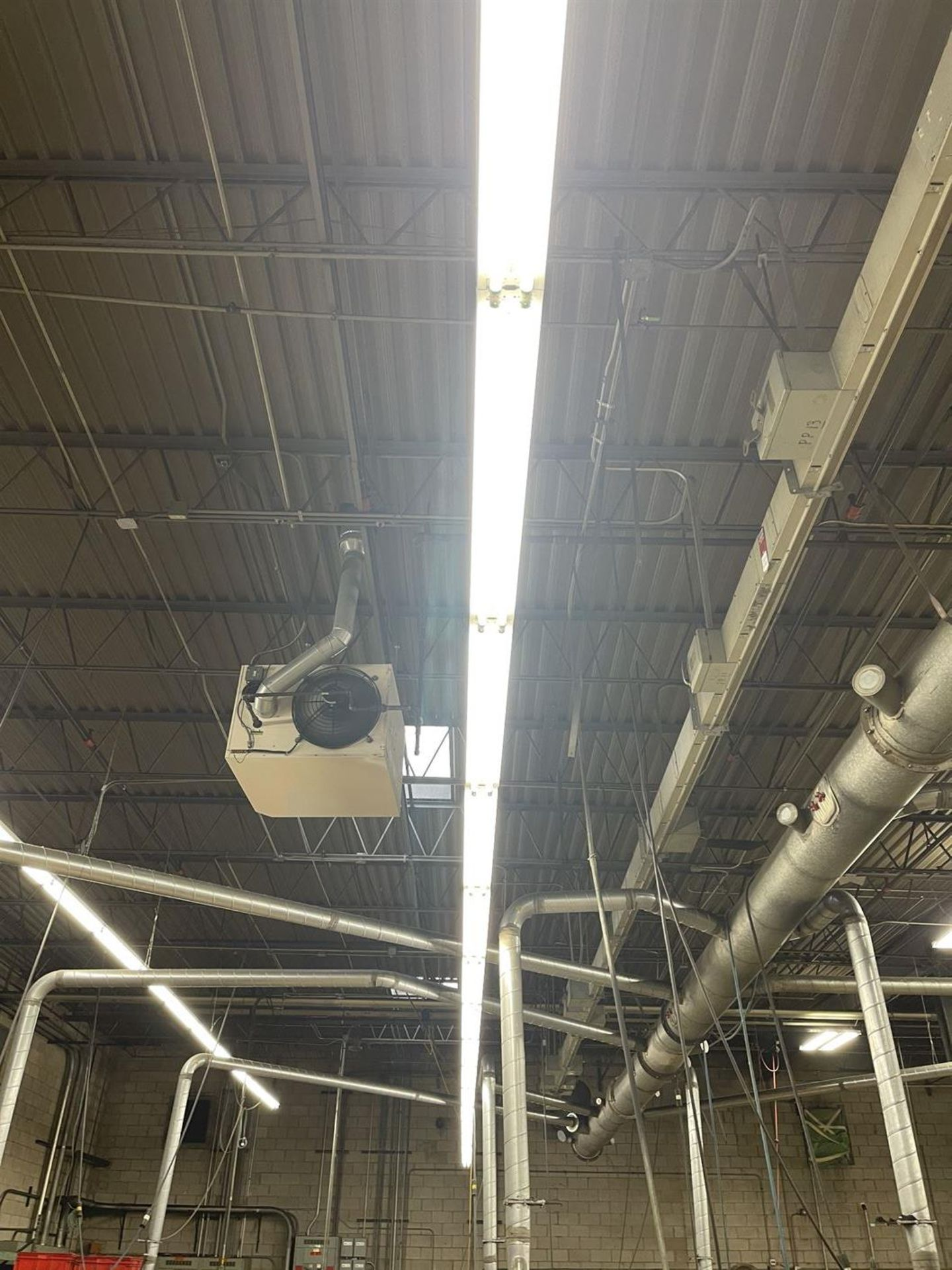 Row of Shop Lighting, Approx. 90' Length - Image 2 of 2