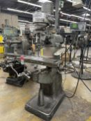 "BRIDGEPORT Milling Machine, s/n 42075, 9"" x 32"" Table, 3/4 HP, 80-2720 RPM, Acu-Rite DRO"