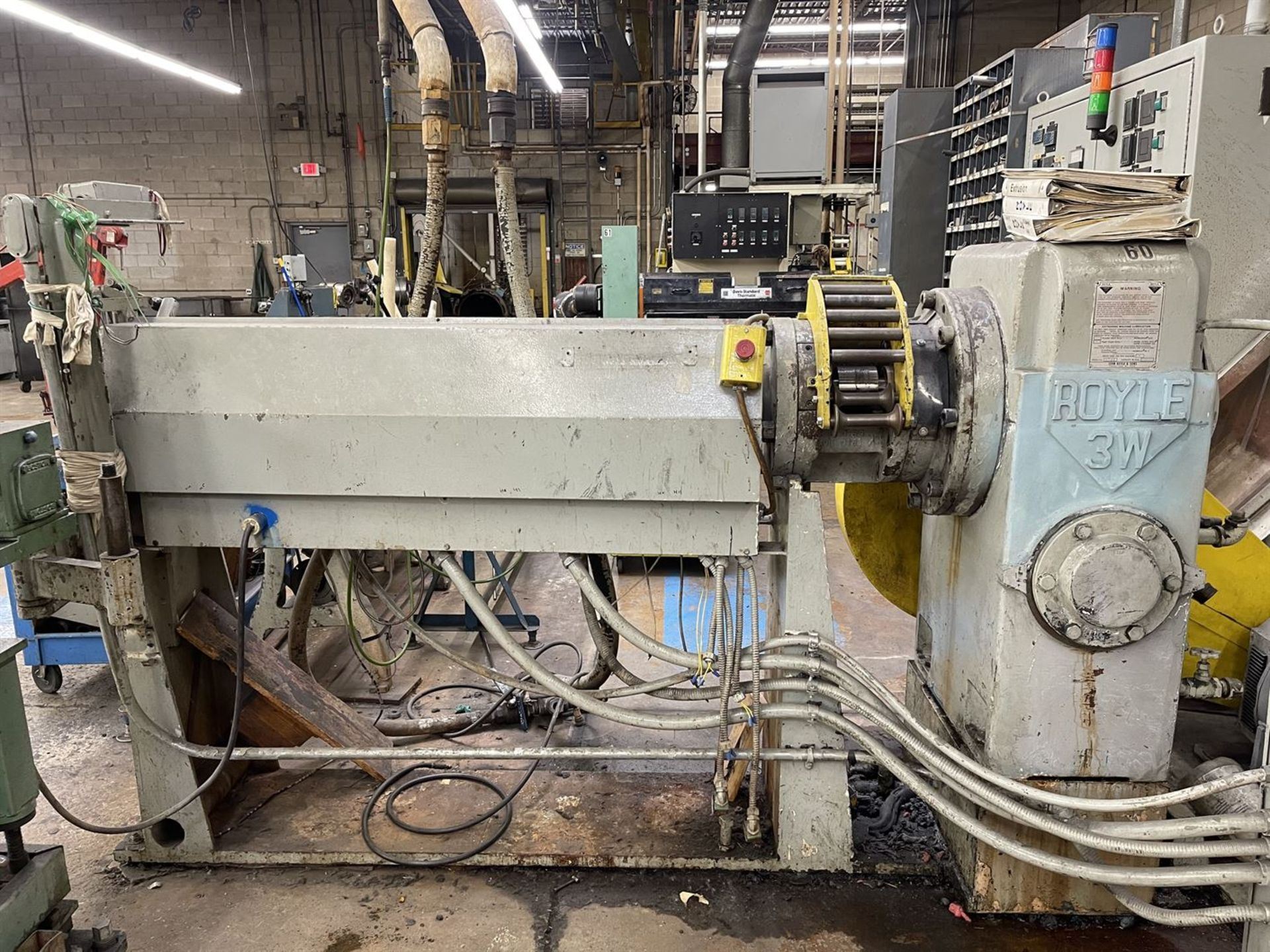 "ROYLE 3W-3-1/2"" 20:1 L/D Extruder, s/n 5769, 75 HP - Image 2 of 6"