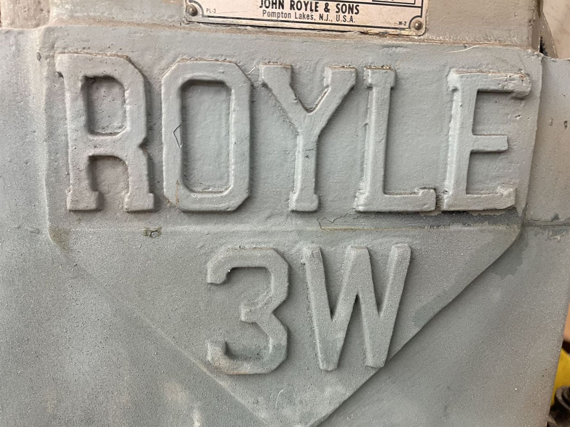 "ROYLE 3W-3-1/2"" 20:1 L/D Extruder, s/n 5769, 75 HP - Image 4 of 6"