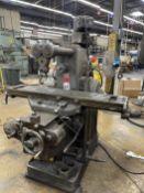 "MILWAUKEE H Horizontal Milling Machine, s/n 16-4998, "" x 48"" Table, 35-1400 RPM"