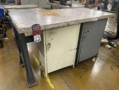 "Work Bench, 30"" x 60"", w/ (2) Cabinet Base"