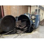 """HERCULES PSS15E Autoclave, s/n 1062, Approx. 54"""" Dia x 156"""" Enclosure, w/ (2) Loading Carts"""