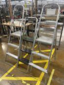 Lot of (3) 3-Step Aluminum Ladders