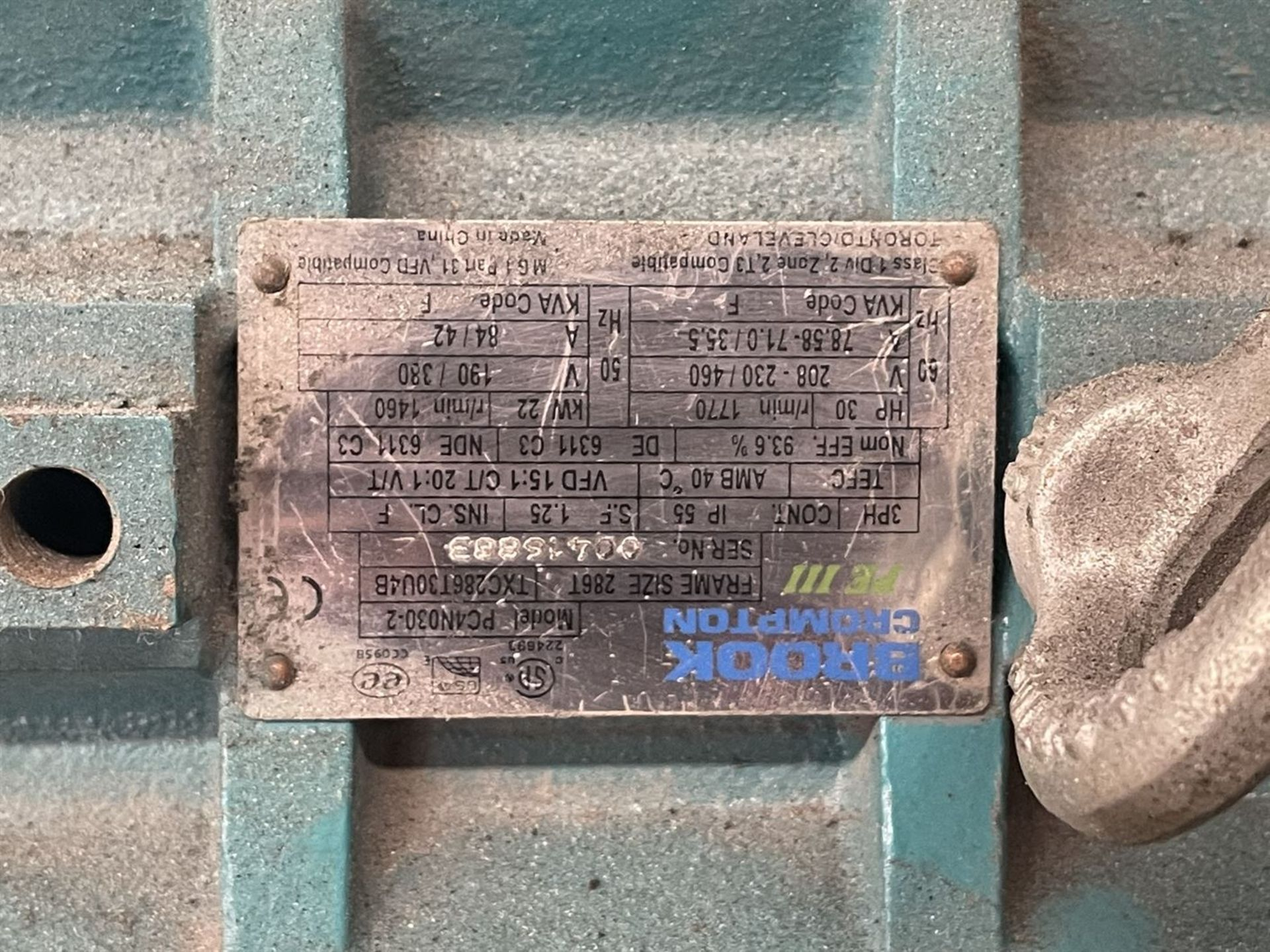 "TEI 903B AC 3"" Short Barrel Extruder, s/n 145, 30 HP - Image 5 of 6"