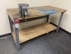 "Work Bench, 30"" x 60"", w/ 6"" Wilton Bench Vise"