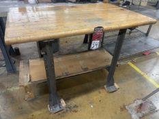 "Wood Top Work Bench, 30"" x 48"""