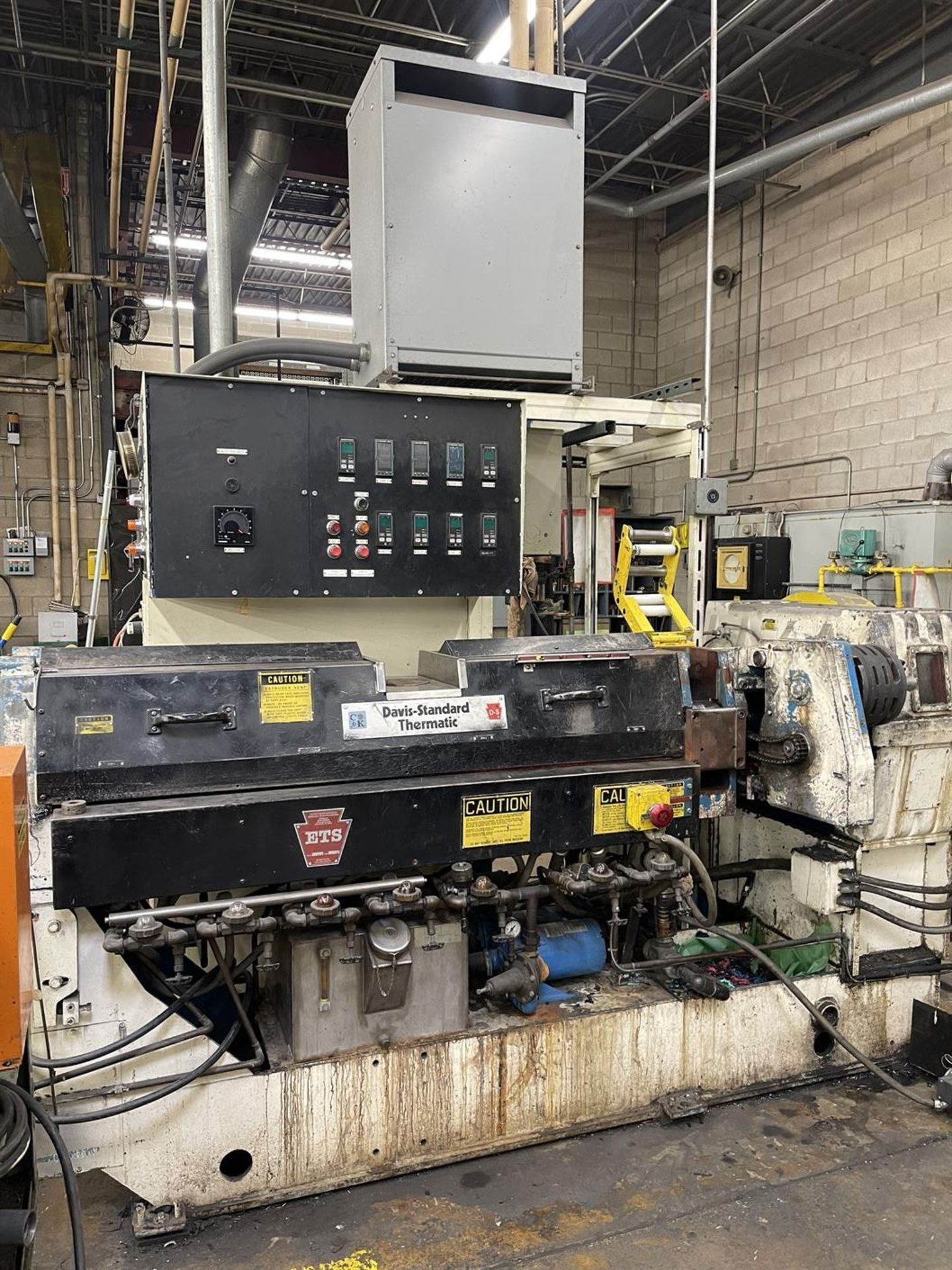 """DAVIS-STANDARD 350S 3.5"""" Extruder, s/n G-7391, 35IN35, 17.39 Gear Ratio, 75HP, 66 RPM, (Side Head - Image 2 of 7"""