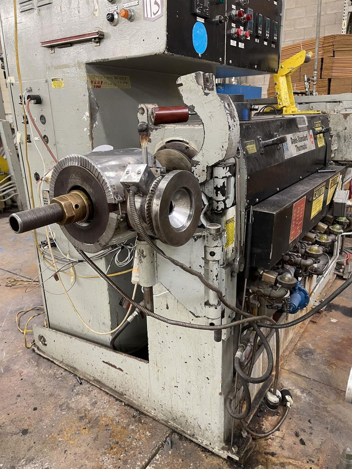 "DAVIS-STANDARD 2.5"" Extruder, s/n, M-4164, 40 HP (Side Head Sold Separately in lot 119) - Image 2 of 8"