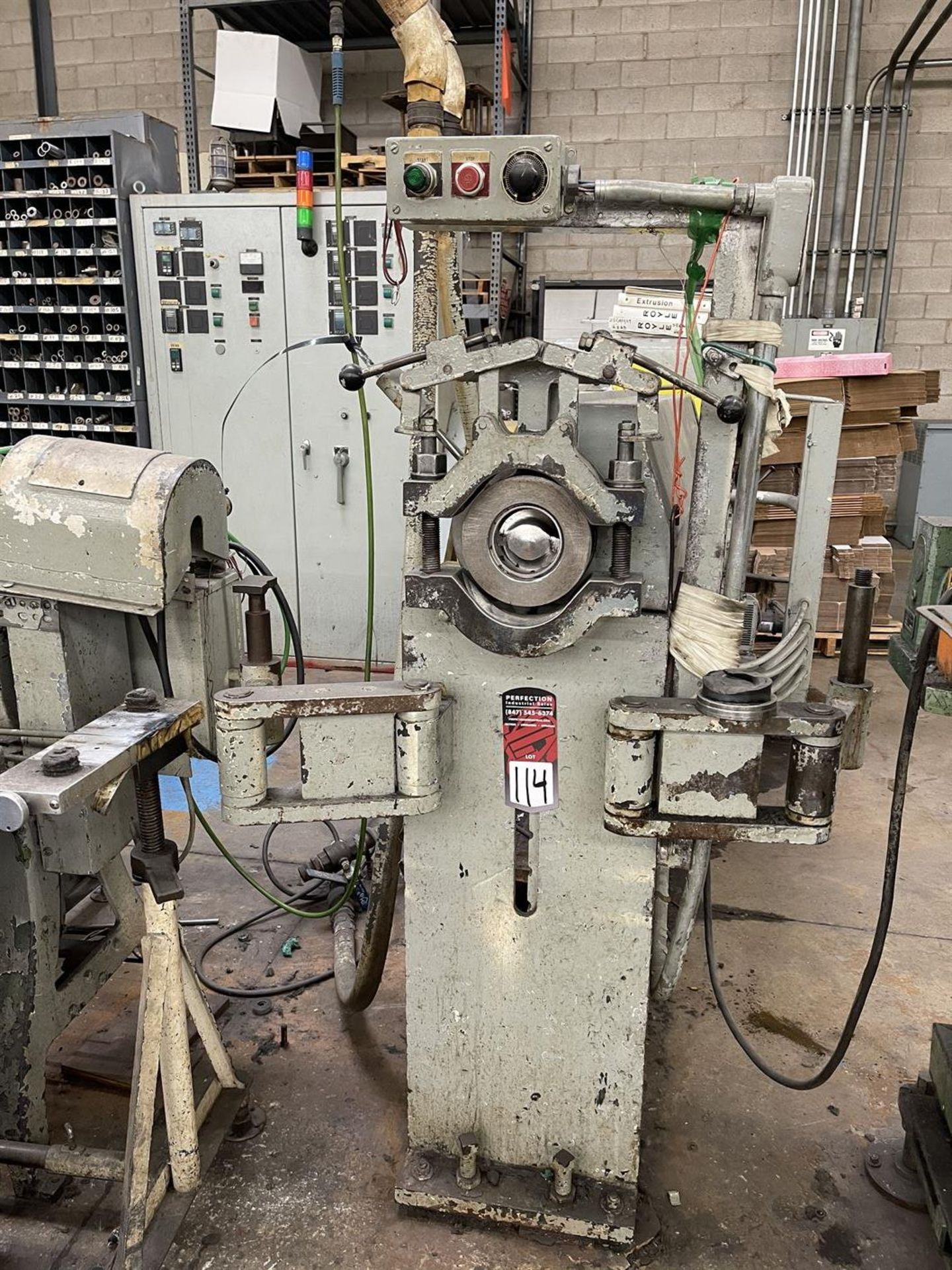 "ROYLE 3W-3-1/2"" 20:1 L/D Extruder, s/n 5769, 75 HP"