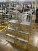 Lot of (2) 3-Step Aluminum Ladders