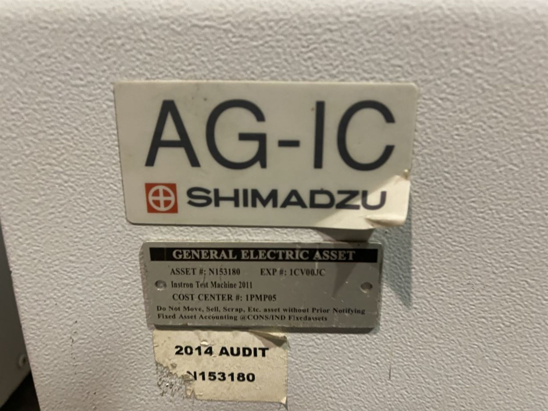 SHIMADZU AG-IC UNIVERSAL / TENSILE STRENGTH TESTER, s/n I30124936053, Autograph AG-IC Control/ - Image 5 of 5