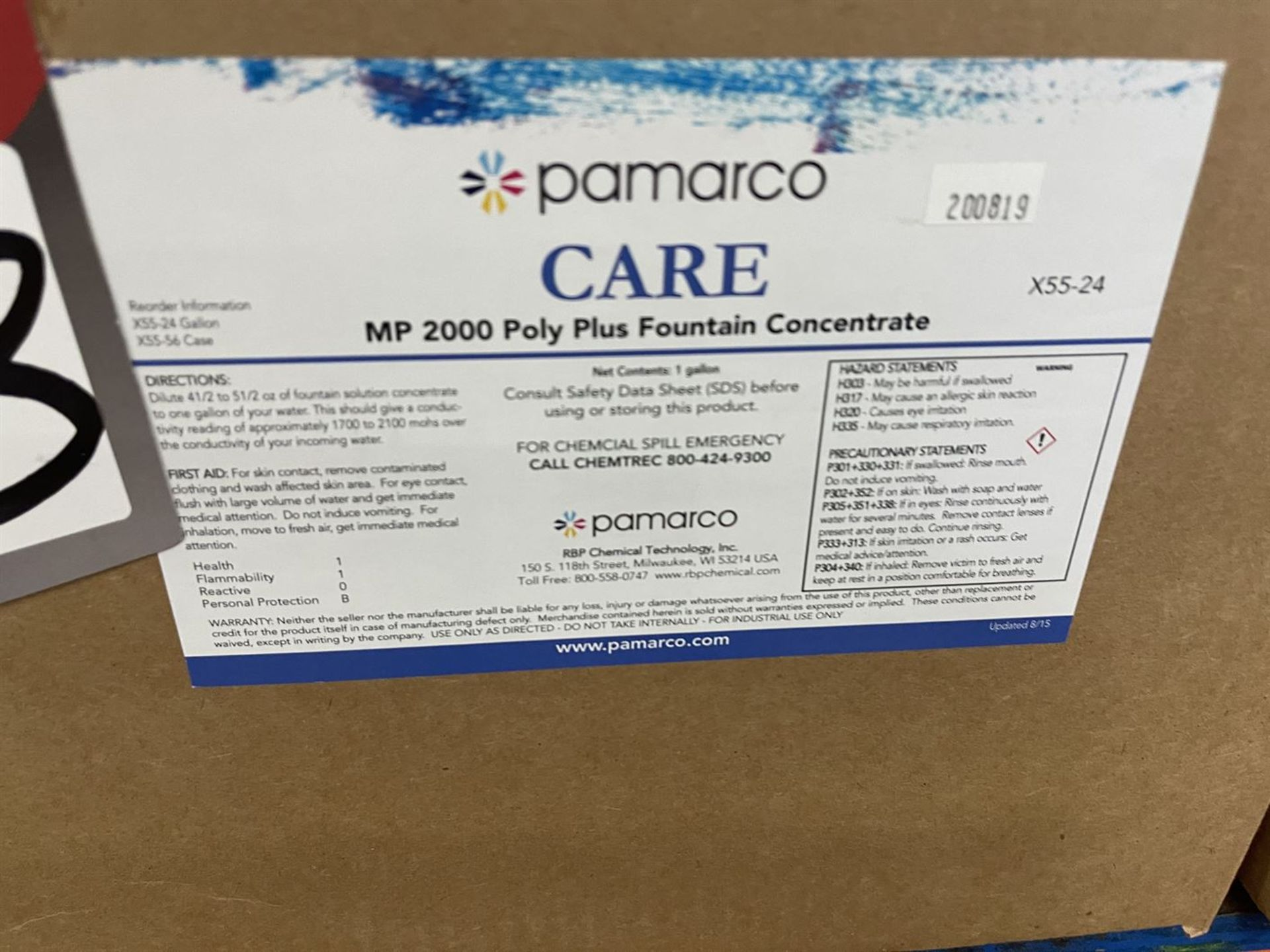 Lot of Assorted Printing Chemicals Including CMP Syn-Tac Pressroom Maintenance Kits, MP 2000 Poly - Image 3 of 5