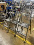 Lot of (3) 2-Step Aluminum Ladders