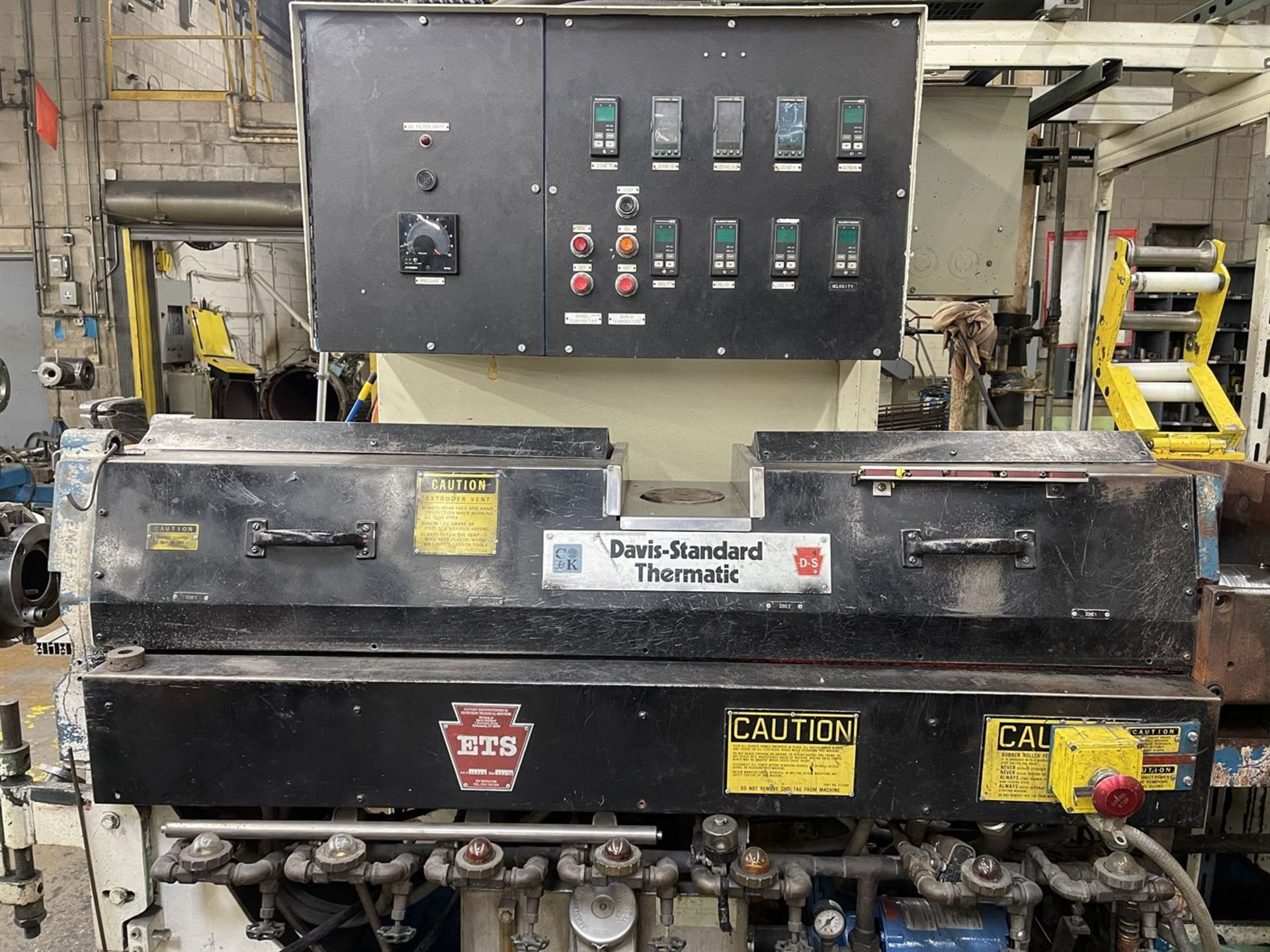 """DAVIS-STANDARD 350S 3.5"""" Extruder, s/n G-7391, 35IN35, 17.39 Gear Ratio, 75HP, 66 RPM, (Side Head - Image 3 of 7"""