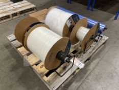 Pallet of ULINE Poly Tubing w/ Roll Dispensers