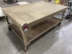 "Heavy Duty Rolling Steel Table, 71"" x 48"""