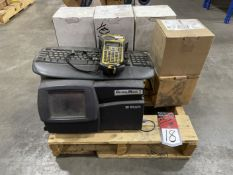 Pallet Comprising BRADY Global Mark 2 Label & Sign Maker, s/n BPMG27313MO2518, w/ Assorted Label