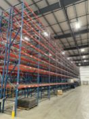 "Row of (18) Sections of STEEL KING Pallet Racking, Approx. 25'T x 8'W x 42"" Deep Per Section, w/"