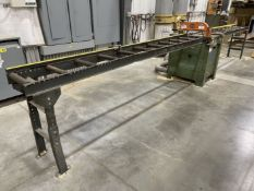 NORTHFIELD 410 Upcut Saw, s/n 970565-E, w/ Roller Conveyor In and Out Feed