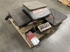 Lot Comprising OHAUS Ranger Count 3000 Digital Scale and (2) Benchtop Shipping Scales