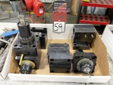 Lot Comprising (2) Live Tools and (3) Tool Blocks/Holders for HWACHEON Turning Center
