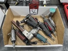 Lot of Assorted Pneumatic Angle Grinders, Die Grinders and Files