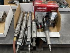 Lot of Assorted Pneumatic Scaler, Palm Sanders, Die Grinder and Rachets