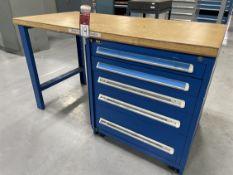 VIDMAR Wood Top Work Bench w/ Ball Bearing Cabinet Base